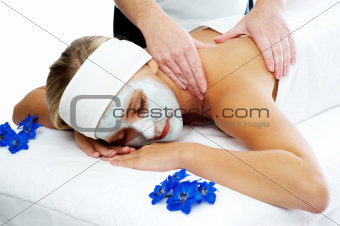 Woman having a beauty spa treatment