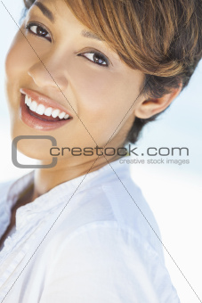 Beautiful Mixed Race Woman Laughing