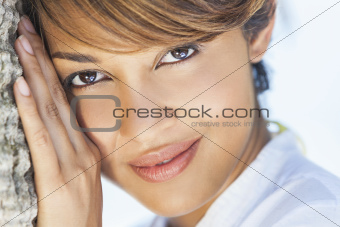 Beautiful Mixed Race Woman Smiling