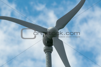 Green Energy - Wind Turbine against the Sky