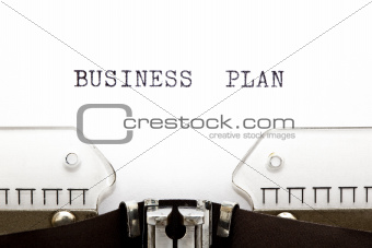 Typewriter Business Plan