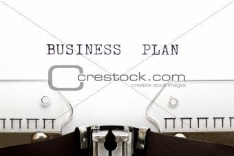 Typewriter Business Plan