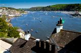 The historic town of Dartmouth in Devon and the River Dart