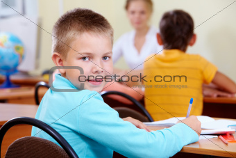 Boy at lesson
