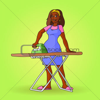African Housewife Vector
