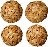 Four Woven Bamboo Balls