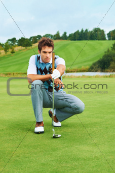 Focus and determination - Golfing