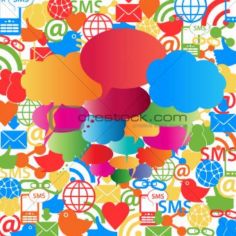 Social network speech bubbles