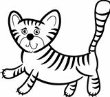 cartoon tiger for coloring book