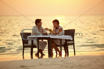 Maldivian romantic dinner
