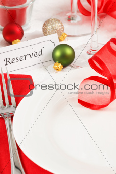 Reserved Christmas Table Setting