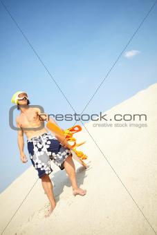 Cool sandboarder