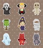 Cartoon Halloween monster  stickers