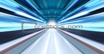 Greased light in tunnel