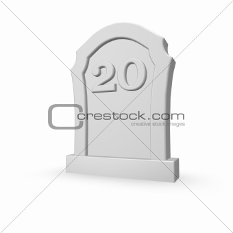 number twenty on gravestone