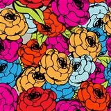 Rose repeating pattern