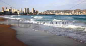 Beautiful beach in Benidorm Spain