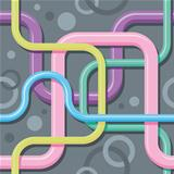 Seamless color texture - interlacing wires