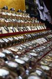 Rows of wrist watches for sale