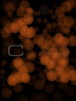 Abstract background of orange glittering lights