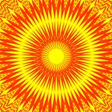 "Decorative abstract design ""Hot Sun""."