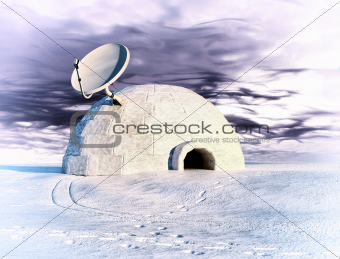 satellite and igloo