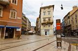 Square in the Downtown of Rijeka in Croatia
