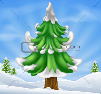Christmas tree scene