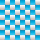 Checkered board blue