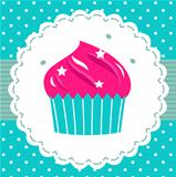 Retro party cupcake template