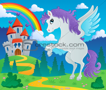 Fairy tale pegasus theme image 2