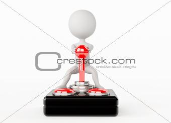 3d humanoid character classic joystick