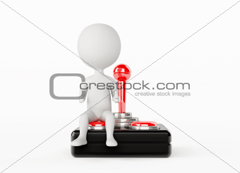 3d humanoid character with a joystick