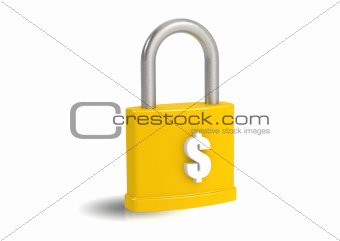 Money and padlock