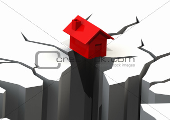 Falling house