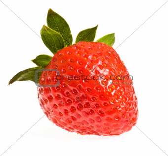 single ripe strawberry