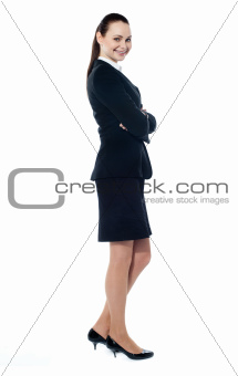 Beautiful sucessful businesswoman with folded arms