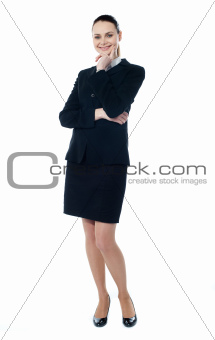 Attractive smiling corporate lady