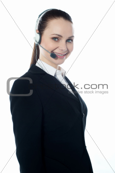 Telemarketing executive offering product