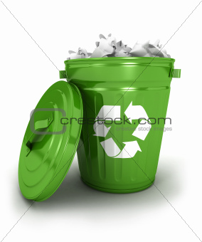 3d recycle trash can