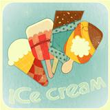 Ice cream retro menu cover