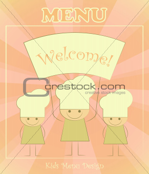 Design of kids menu with chefs