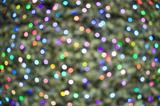 deliberately defocussed lights on a christmas tree