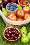 trug of summer fruit