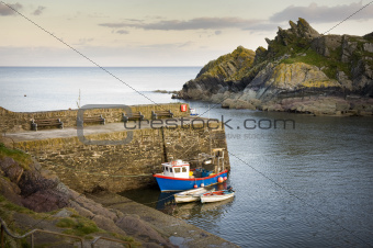 polperro harbour cornwall uk