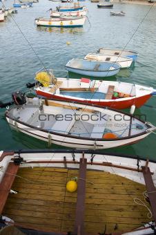 fishing boats at st ives