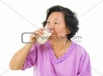Drinking soy milk