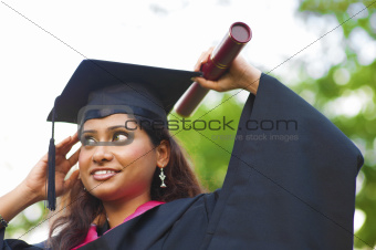 Asian Indian female student