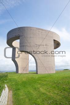 side monument in Gijon