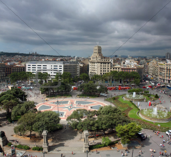 Catalonia Square panorama